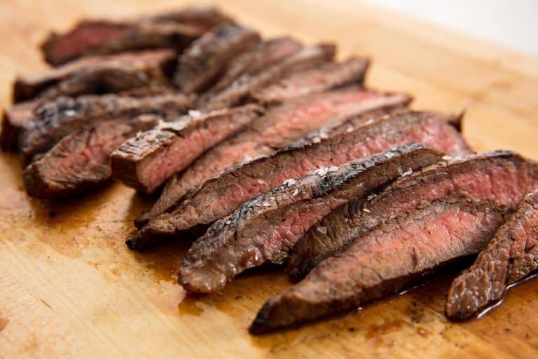 thick slices of steak
