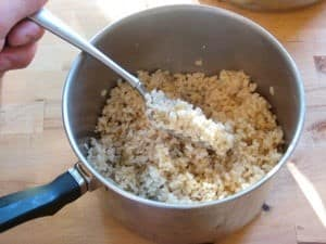 fluffing-of-rice