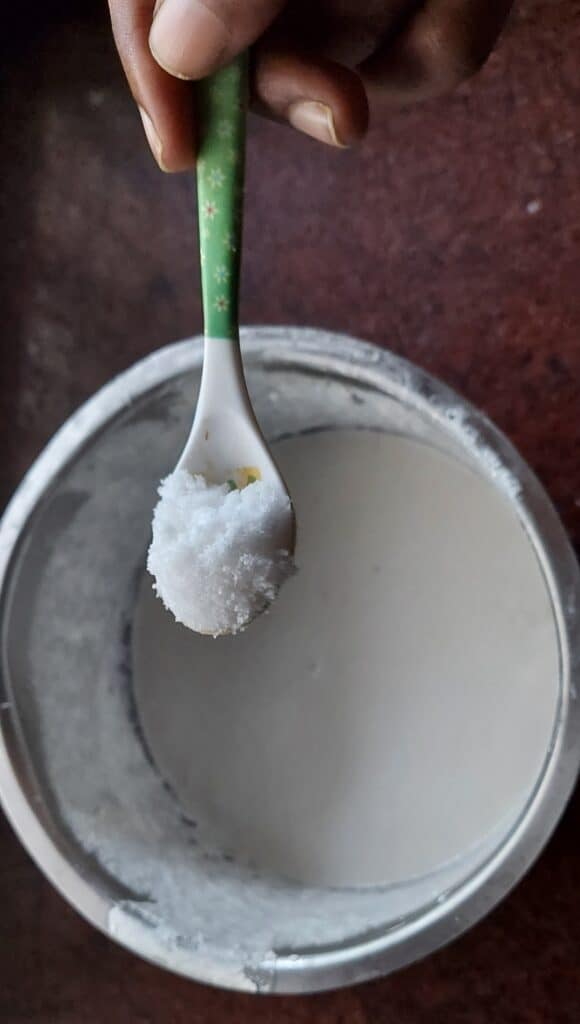 adding iodized salt to dosa batter