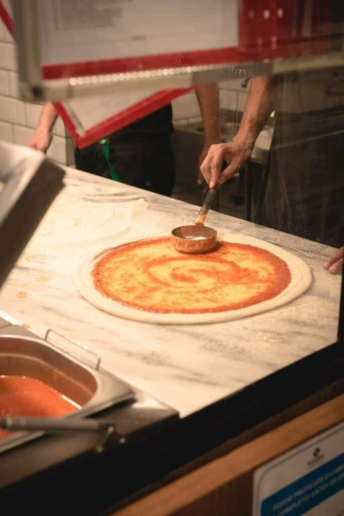 how to make dominos pizza at home