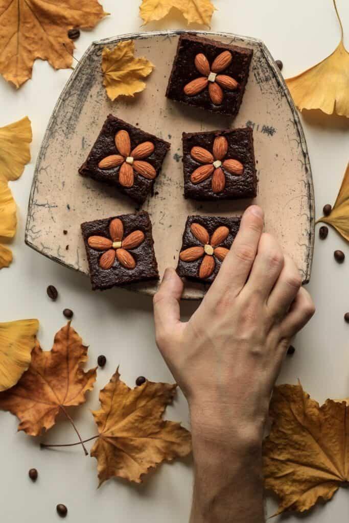 homemade cakey brownies